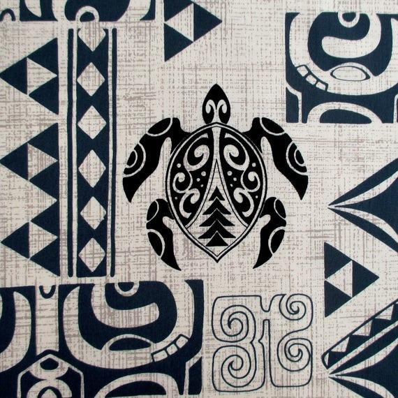 Sea Life Turtle Wave Rug2 Bath Mat: Fabric, Polynesian Tattoo, Black Tattoo Blue And Beige