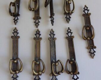 9 Wardrobe Pulls, Vintage Furniture Pulls, Vintage Pulls Furniture, Cabinet Pulls, Cabinet Knobs,Knobs Vintage, Hardware Pulls, Drawer Pulls