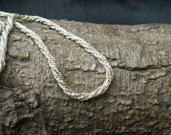 Vintage Sterling Silver Twist Triple Link Necklace Chain