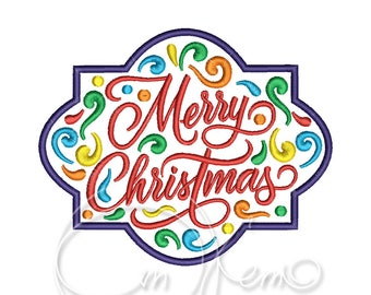MACHINE EMBROIDERY DESIGN - Mexican design Merry Christmas