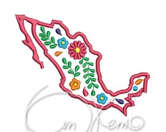 MACHINE EMBROIDERY DESIGN - Mexico, Mexican design, Calavera, Dia de los muertos, Day of the dead