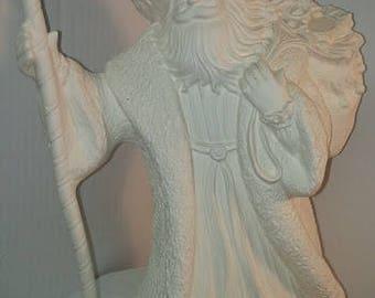 Ceramic Bisque Walking Renaissance Santa