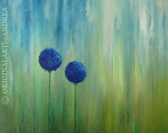 Floral Canvas Art Acrylic Painting Abstract Landscape Wall Art Textured ORIGINAL CONTEMPORARY ART Home Decor Paintings 24x24x1,5 60x60x3,6cm