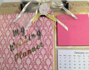 Wedding Planner Altered Clipboard
