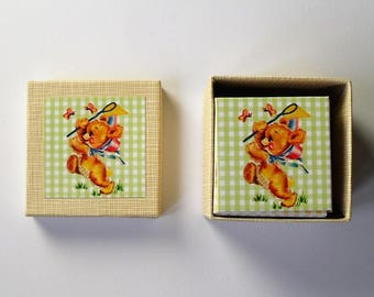 memory game  little animal children vintage matching game