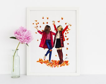 Fall Friends (Fashion Illustration Print)