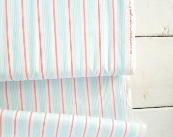 The Best of Sarah Jane - Racer Stripes(Seafoam/Red) - Sarah Jane - Michael Miller Fabrics