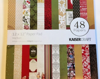 "KaiserCraft ""Holy Night"" 12"" x 12"" Paper Pad"