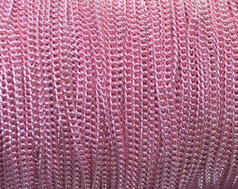 1 m chain 3x2mm color pink