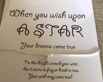 A star charm bracelet- wish upon a star- wish bracelets-infinity star bracelet- charm wish infinity bracelets-wish star