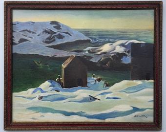Andrew Winter (1893-1958) Maine Monhegan Coastal Oil Painting