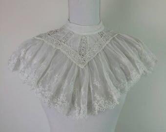 Antique Edwardian Lace white collar
