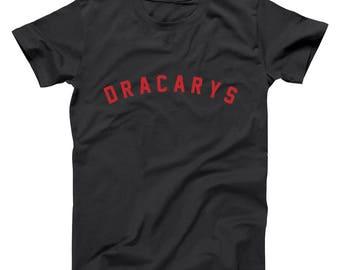 Dracarys Khaleesi Dragon Fire Got Thrones Show North Wall Basic Men's T-Shirt DT1926