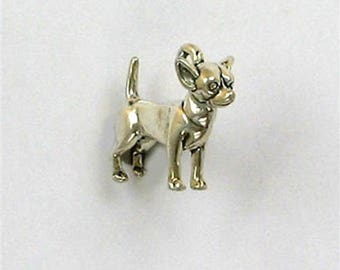 Sterling Silver 3-D Chihuahua Charm