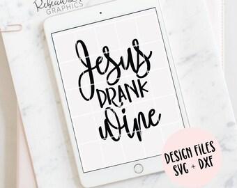 Jesus drank wine | clip art | SVG | DXF | Instant Download