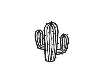 "SMALL CACTUS STAMP - mini rubber stamp, swing tags stamp, card stamp, stationary stamp, decorative stamp, party stamp, 0.75""x0.7"" (minis103)"
