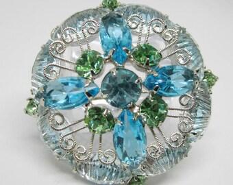 "Vintage Rhinestone Jewelry -  ""Juliana""  Brooch Pin - Verified - Delizza & Elster - Book Piece"
