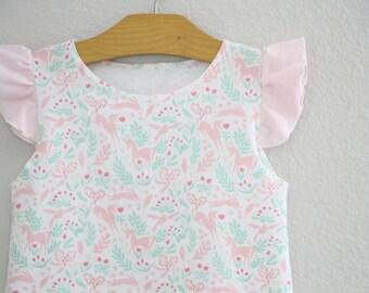 Unicorn Dress, Girls Ruffle Dress, Ruffle Sleeve Dress, Baby Dress, Summer Dress, Baby Dress, Girls Dress, Girls Gift, Birthday Dress