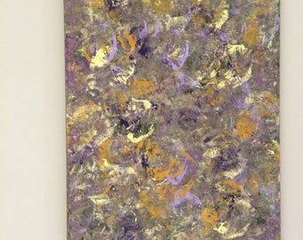 SALE Abstract Large Art Butterfly Painting Purple Yellow Art XL Canvas Art Purple Painting Original Acrylic Art Nature Art 22 x 28 canvas