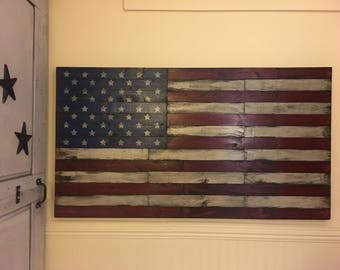 Pallet Wood Flag, Large Wood Flag, Rustic American Flag, Wooden American Flag, American Flag Wall Art, Wood American Flag, Fixer Upper Decor