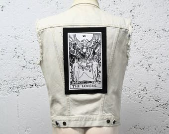 The Lovers Tarot Card Back Patch