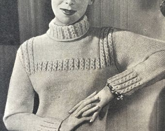 Knitted Cardigans and Jerseys, Woman's Weekly 1950s Knitting Pattern Booklet, 5 Designs