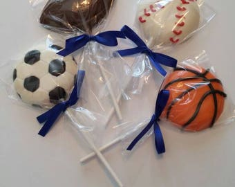 Sport Chocolate Lollipops