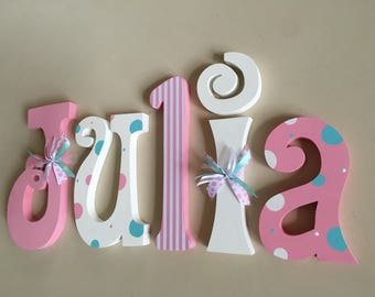 Nursery letters, Nursery wall hanging letters, nursery decor, nursery wall letters, girl wood letters, nursery wood name, nursery name sign