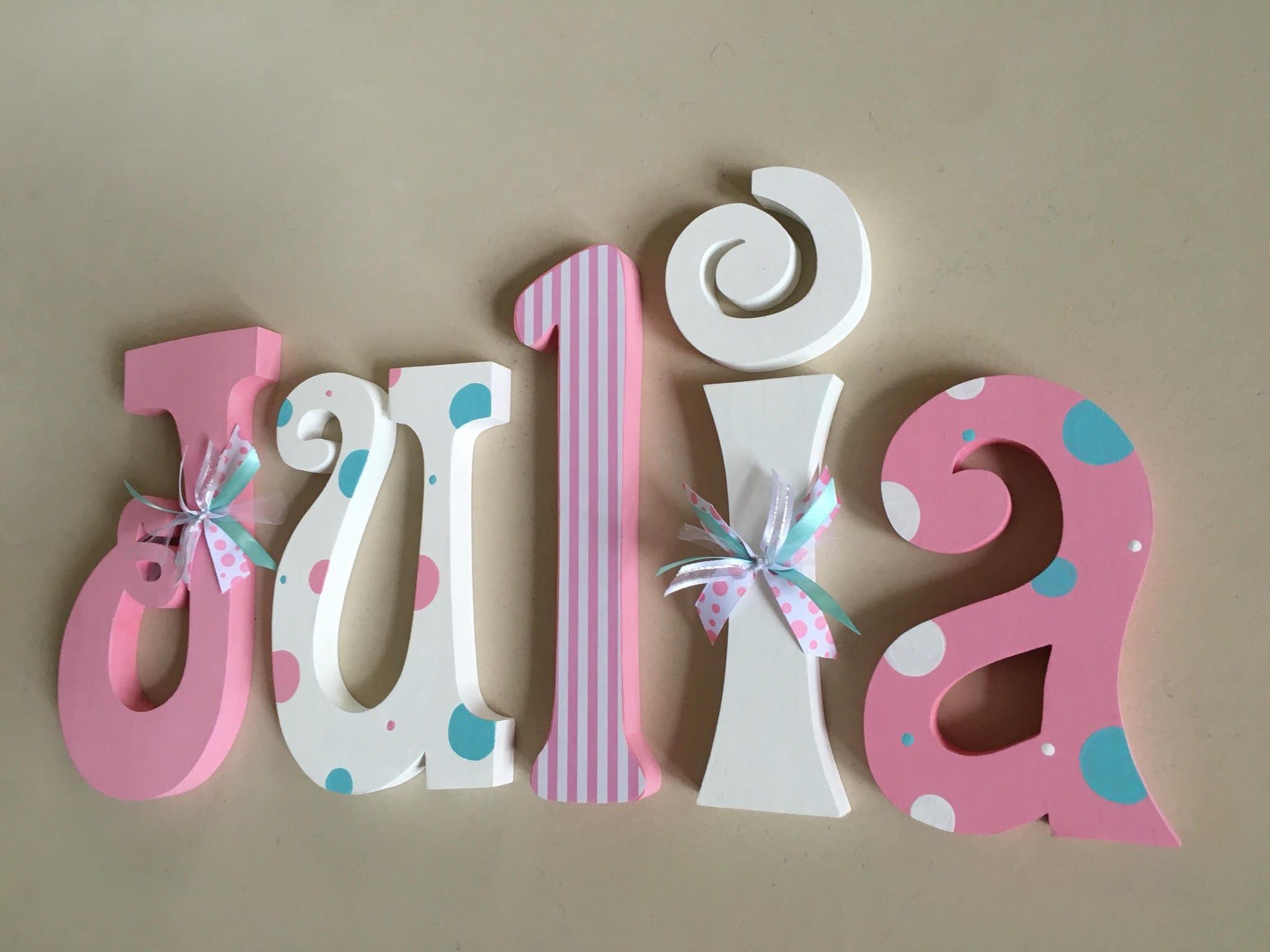 Nursery Letters Nursery Wall Hanging Letters Nursery Decor