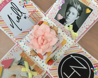 Niall Horan suprise exploding box, birthday explosion box, concert ticket gift box, suprise announcement, birthday or Christmas suprise gift
