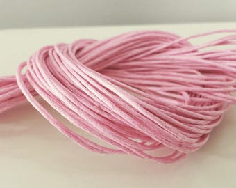 5 Metters pink cord 1 mm ☆☆ cotton coated 5 m wire design bracelet, jewelry