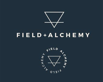 Minimalist Premade Logo | Field + Alchemy | Round Watermark | Lifestyle Branding | Instant Download | Business Logo | Editable PSD Template
