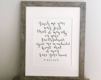 9x12 Handlettering: Psalm 86