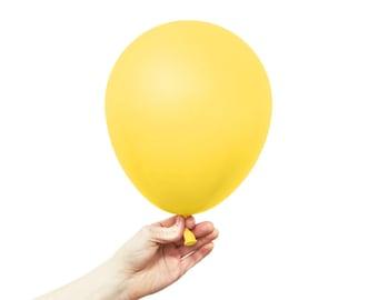 """Yellow Balloons - 11"""" Latex Standard Balloon - 5 Balloons"""