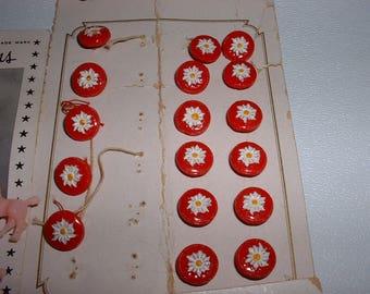Vintage Czechoslovakia Glass Buttons MOC (E151)