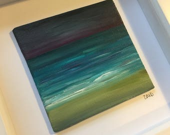 Original Framed painting by Zoey Devaney - Turquoise Waters, 2017