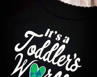 It's a Toddler's World long sleeve Tee