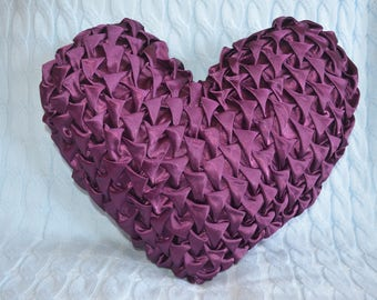 Heart Shaped satin cushion