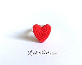 ring child original red heart
