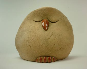 Semirefrattaria glazed ceramic OWL.