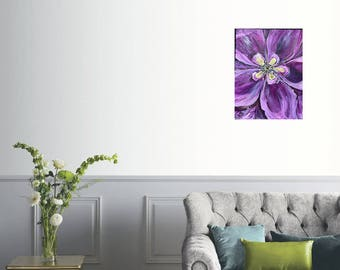purpleFlower painting,abstract landscape,abstract Flower painting, flowers, abstract panting, original flower painting, original flower art