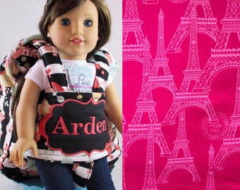 Darling and Doll Backpack in Pink Eiffel