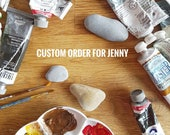 Jenny please choose this listing! Custom order for one hand painted wolf face on pebble.