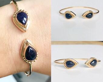 Sun stone Bangle Bracelet