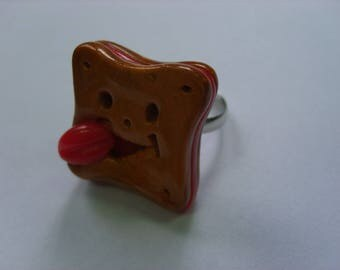 FANCY CHOCOLATE POLYMER CLAY RING