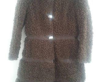 Vintage brown faux fur 70s cost