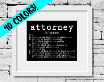 Attorney Definition, Attorney Print, Attorney Quote, Attorney Gift, Attorney Prints, Attorney, Attorney Quotes, Gift for Attorneys, Attorney