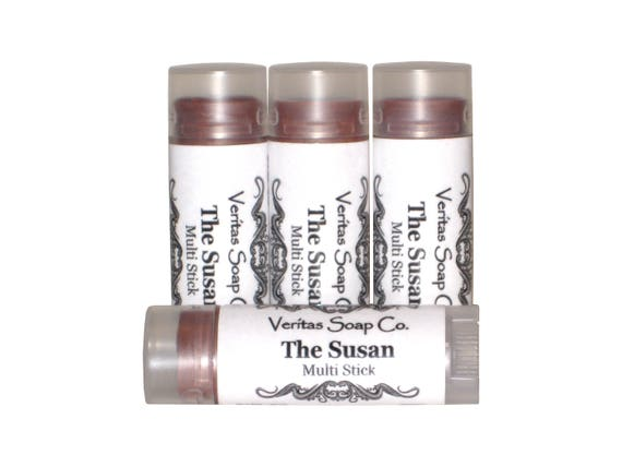 THE SUSAN Multi Stick  - A Dusty Rose Mauve Cream Makeup for Lips/Cheeks/Eyes - VEGAN / Makeup / Lipstick / Eye Gloss / Cream Blush