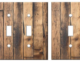 Rustic Wood Light Switch Plate Cover Planks // brown image 73 // SAME DAY SHIPPING**