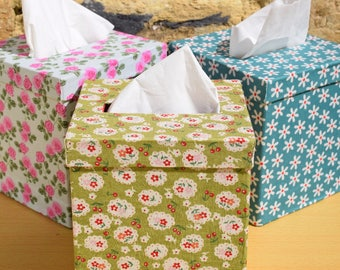 Floral Reusable and Refillable Ladies Tissue Hanky Boxes